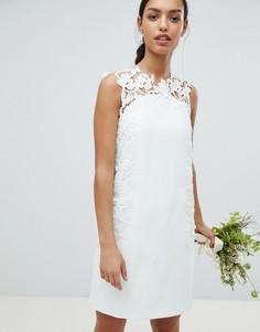 Платье-туника с кружевной аппликацией Ted Baker - Синий