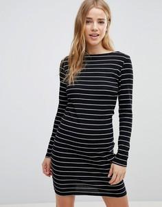 Облегающее платье в полоску JDY - Черный