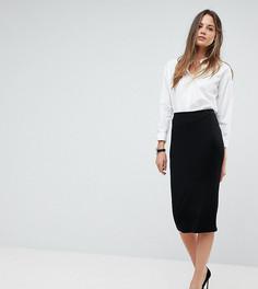 Трикотажная юбка-карандаш ASOS TALL - Черный