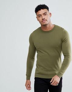 Облегающий джемпер цвета хаки ASOS - Зеленый