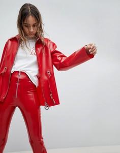 Куртка с поясом Hanger - Красный