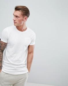 Удлиненная футболка с асимметричным подолом Produkt - Белый
