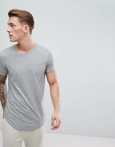 Удлиненная футболка с асимметричным подолом Produkt - Серый