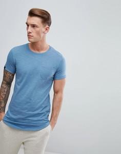 Удлиненная футболка с асимметричным подолом Produkt - Синий