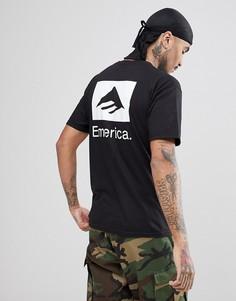 Черная футболка с принтом на спине Emerica - Черный
