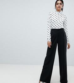 Брюки с широкими штанинами и завышенной талией Vero Moda Tall - Черный