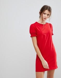 Платье-футболка с присборенными рукавами Daisy Street - Красный