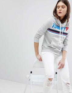Худи с логотипом в стиле ретро Tommy Jeans - Серый
