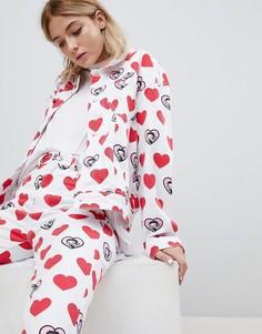 Джинсовая куртка с принтом Lazy Oaf X Betty Boop - Белый