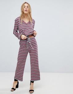 Комбинируемые свободные брюки в полоску Honey Punch - Мульти