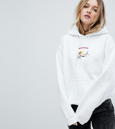 Худи с надписью Whatever и вышитым херувимом Adolescent Clothing Valentines - Белый