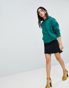 Джинсовая юбка в винтажном стиле New Look - Черный
