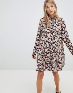 Платье-рубашка с цветочным принтом Pimkie - Черный