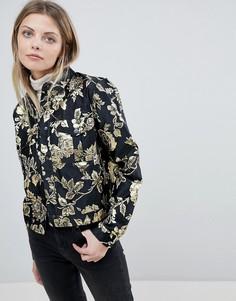Жаккардовая куртка с цветочным узором Vila - Мульти