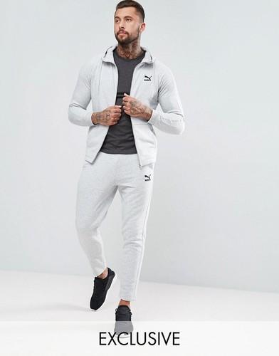 4ede37e09454 Спортивный костюм PUMA, Комфортная модель, Капюшон со шнурком, Рукава  реглан, Молния, Маленький логотип PUMA, Боковые карманы, Облегающие манжеты  и нижняя ...