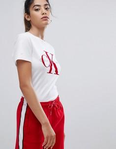 Футболка с логотипом Calvin Klein Jeans - Белый