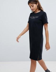 Платье-футболка с логотипом Calvin Klein Jeans - Черный