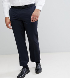 Темно-синие брюки Burton Menswear PLUS - Темно-синий
