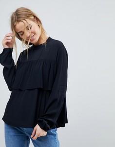 Ярусная блузка с оборками Pimkie - Черный