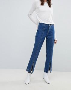 Широкие джинсы с пуговицами по краю Gestuz - Синий