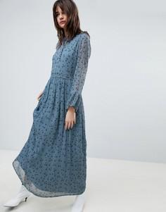 Платье макси с цветочным принтом Gestuz - Синий