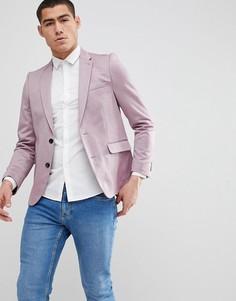 Зауженный розовый блейзер Burton Menswear - Розовый