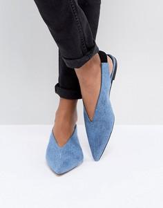 Джинсовые туфли на плоской подошве Gestuz - Синий