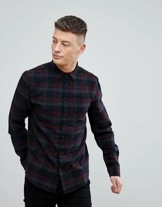 Черная рубашка классического кроя в клетку New Look - Черный