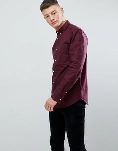Бордовая оксфордская рубашка New Look - Красный