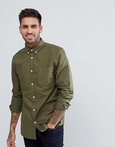 Оксфордская рубашка цвета хаки New Look - Зеленый