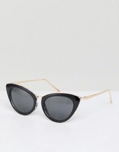 Солнцезащитные очки кошачий глаз в стиле ретро River Island - Белый