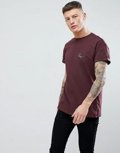 Бордовая футболка с вышивкой скорпиона New Look - Красный