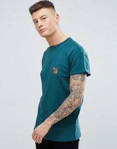 Сине-зеленая футболка с вышивкой тигра New Look - Зеленый