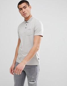 Футболка-поло серого цвета Burton Menswear - Зеленый