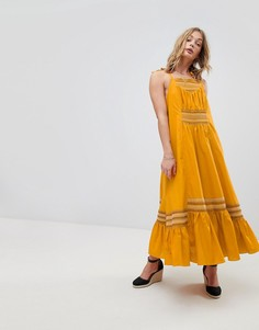 Свободное платье миди Free People Another Love - Желтый