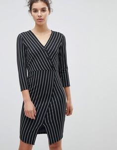 c778ae02a71 Облегающее платье с асимметричным подолом Miss Selfridge - Мульти