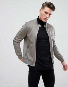 Серая куртка из искусственной замши River Island - Серый