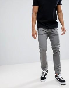 Серые чиносы скинни Burton Menswear - Серый