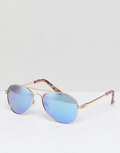 Солнцезащитные очки-авиаторы River Island Ocean Lense - Золотой
