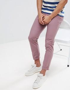 Розовые чиносы скинни Burton Menswear - Розовый