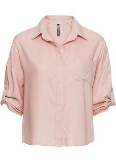 Прямая блузка (винтажно-розовый) Bonprix