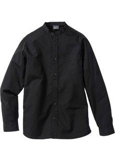 Рубашка Regular Fit с длинными рукавами (черный) Bonprix