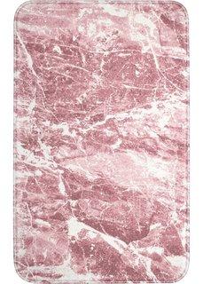 Коврик для ванной Мрамор, пена с эффектом памяти (розовый) Bonprix