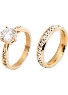 Кольцо (2 шт.) (золотистый) Bonprix