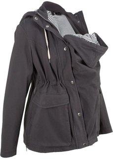 Куртка для беременных со вкладкой для малыша (шиферно-серый) Bonprix