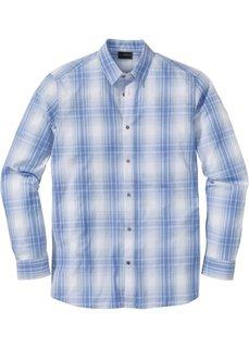 Рубашка Regular Fit с длинным рукавом, в клетку (синий/белый в клетку) Bonprix