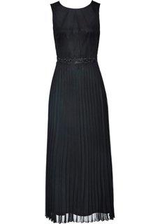 Вечернее платье с кружевной отделкой (черный) Bonprix