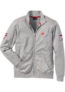 Куртка трикотажная Regular Fit с воротником-стойкой (светло-серый меланж) Bonprix