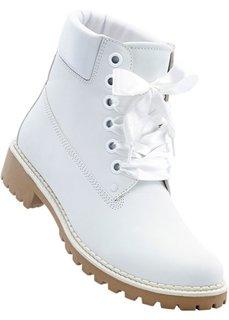 Ботинки на шнуровке (кремовый) Bonprix
