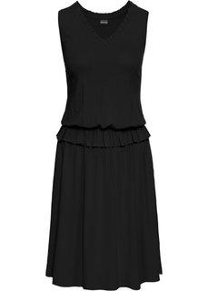 Платье из трикотажа (черный) Bonprix